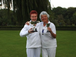 The Ladies Championship winner and runner up